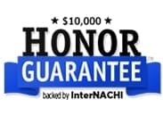 logo for home inspection honor guarantee