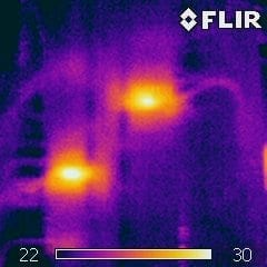 heating loss image for thermal imaging